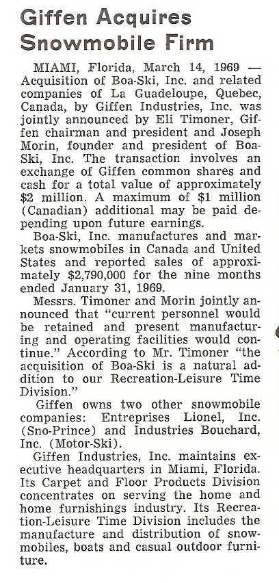 History of Boa Ski | Boa Ski Snowmobiles Boa Brotherhood